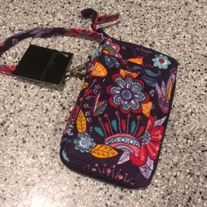 Paisley Floral Phone Wristlet Wallet